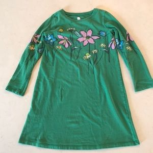 EUC Girl's Green Floral Tea Collection Dress Sz 7